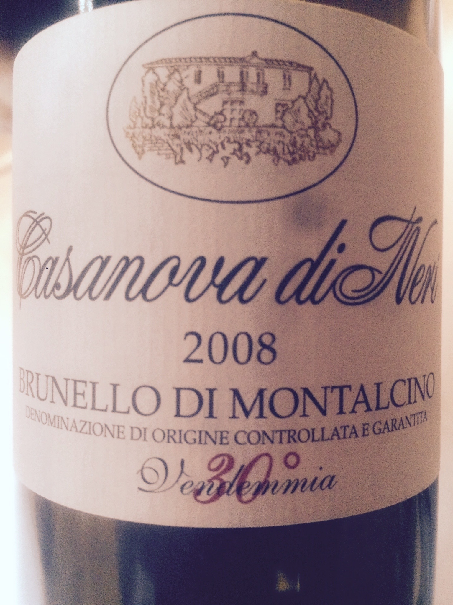 BRUNELLO DI MONTALCINO DOCG 2008 – CASANOVA DI NERI